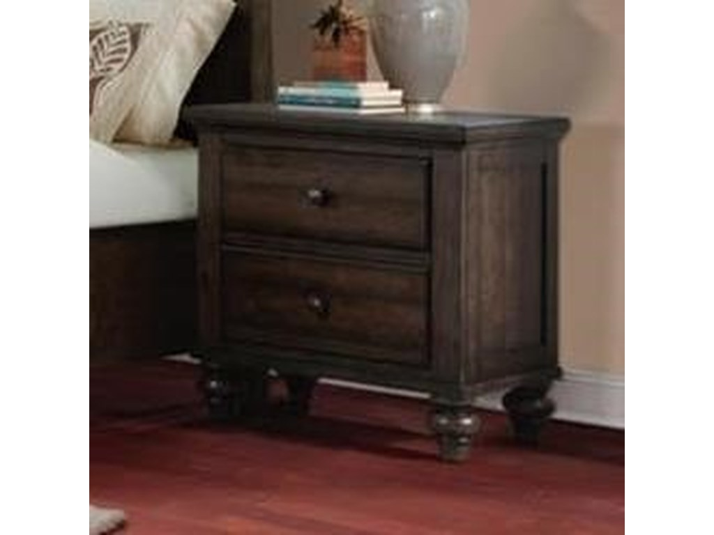 Elements International Chatham GrayNightstand