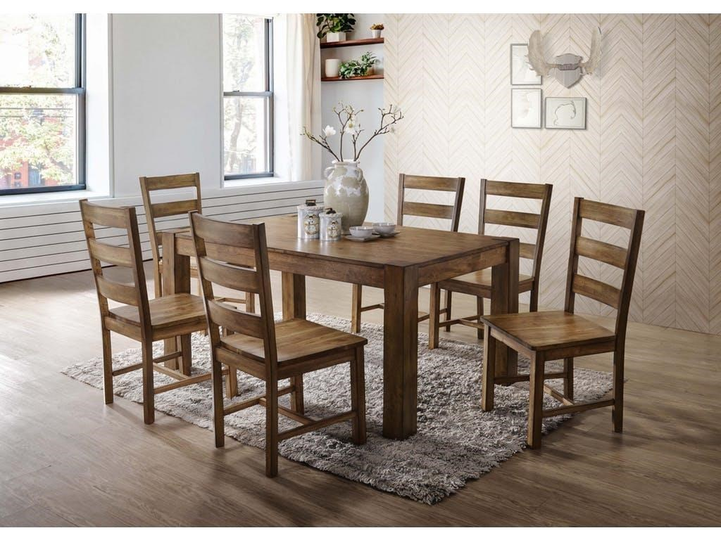 Elements international cheyenne grp dcy100 tbl 6 table and 6 chair elements international cheyennetable and 6 chair set dzzzfo