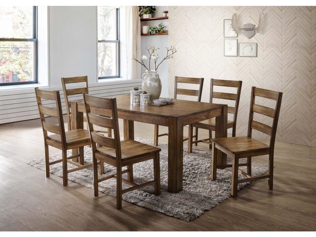 Elements International CheyenneTable and 6 Chair Set