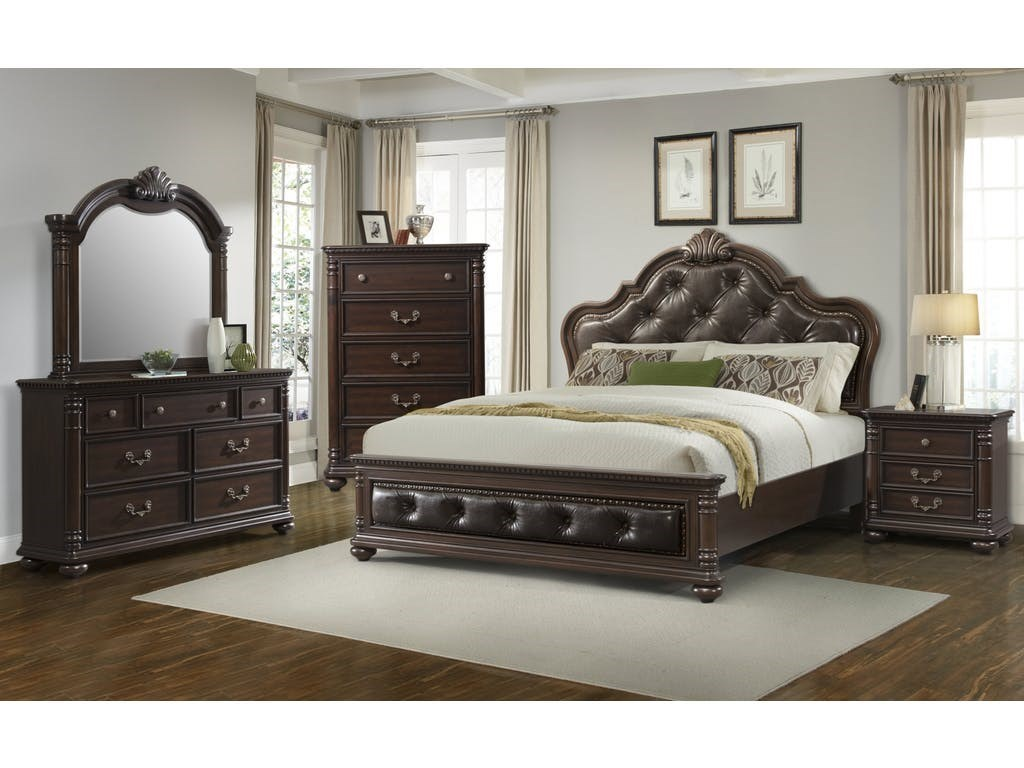 Elements International ClassicQueen Bedroom Group