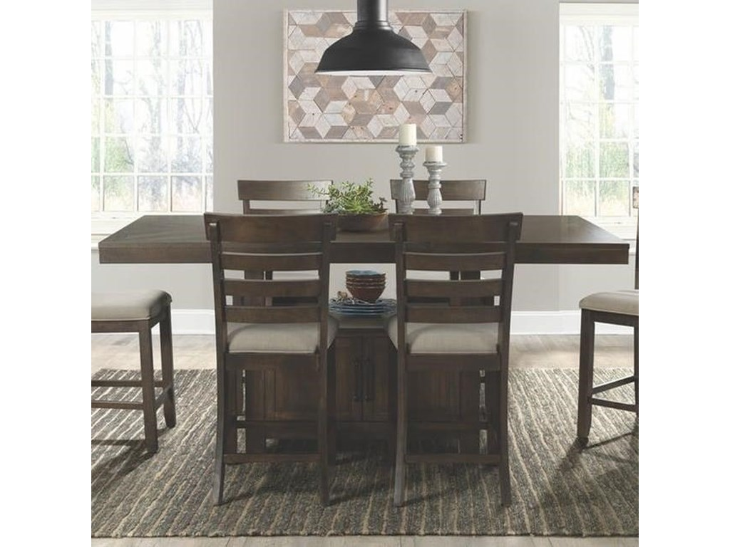 Elements International ColoradoCounter Height Dining Set