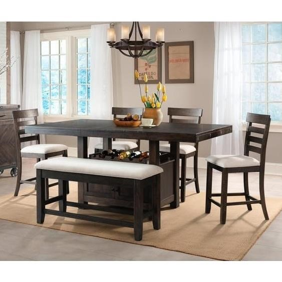 Elements International Colorado Transitional Counter Height Dining Rh Olindes Com Room Tables Furniture Springs