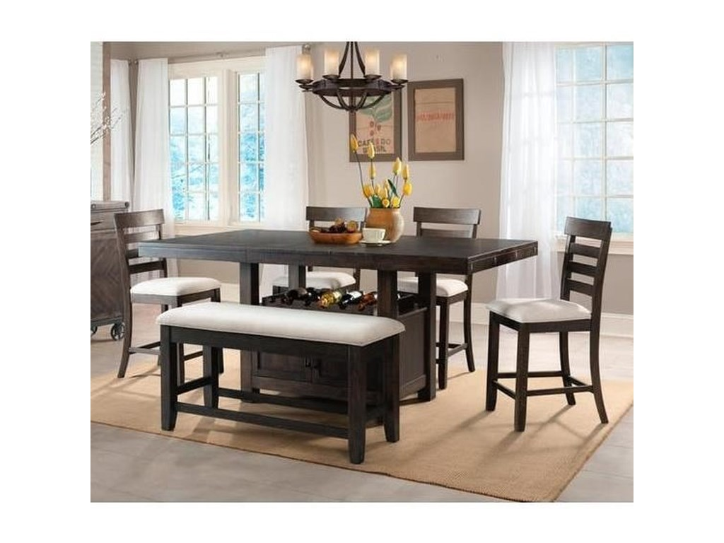 Elements ColoradoCounter Height Dining Set with Bench