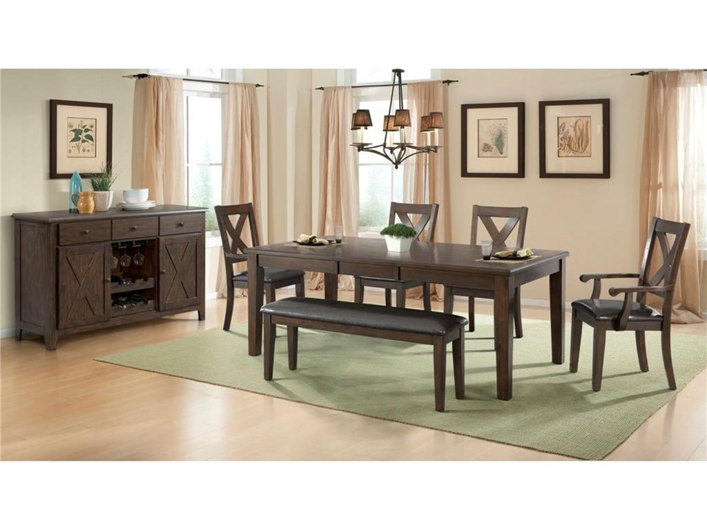 Elements International Cooper RidgeCasual Dining Room Group