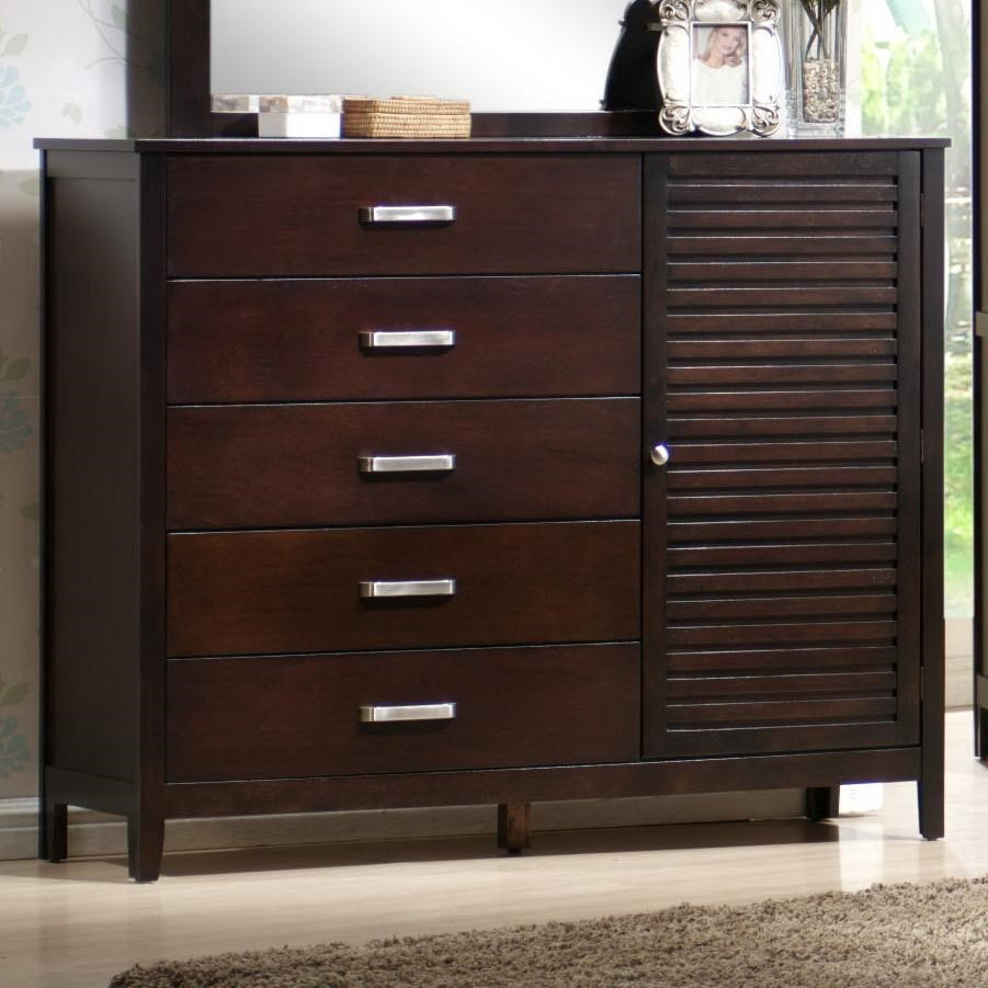 Attractive Elements International Dalton Dresser W/ Cabinet Door   Zaku0027s Fine Furniture    Dresser