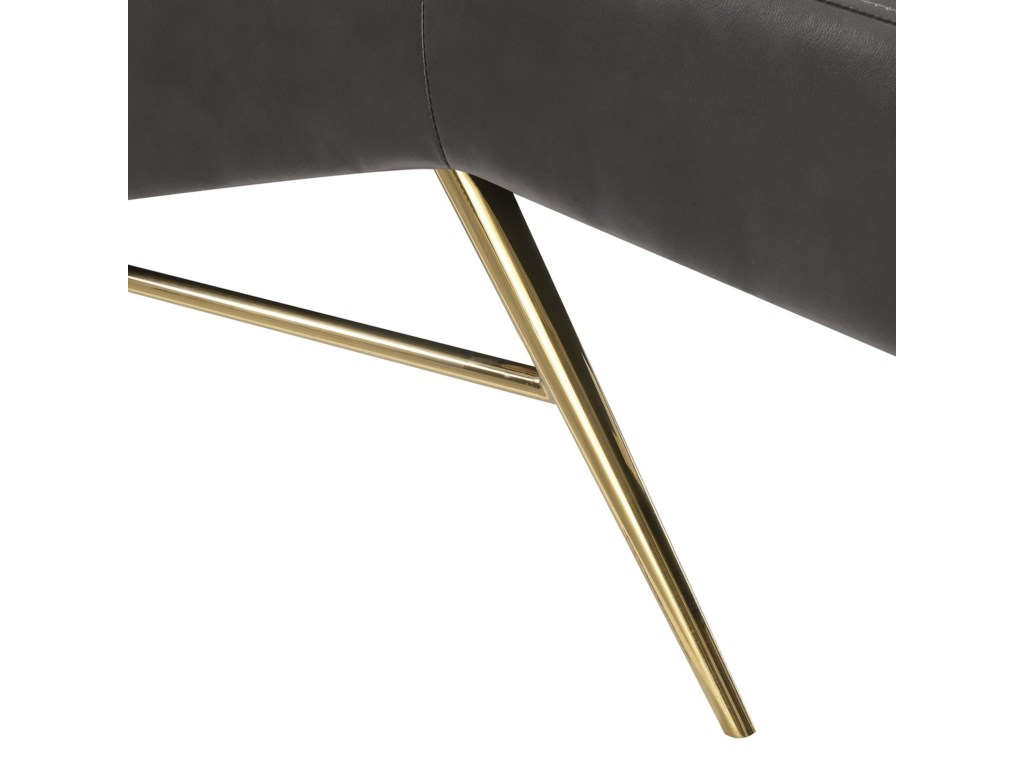 Elements DanteChaise with Gold Base
