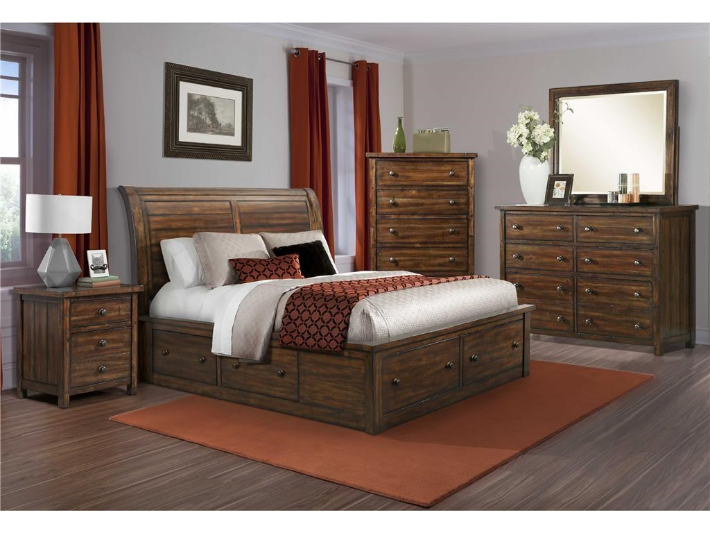 Elements International BoardwalkKing Bedroom Group