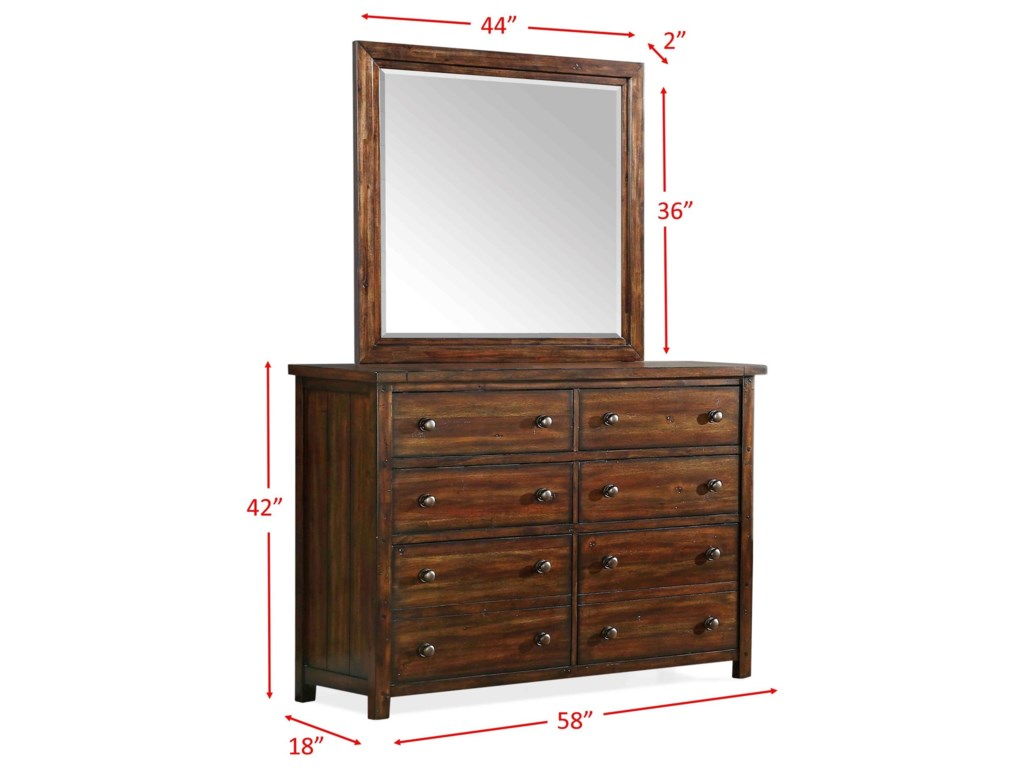Elements Dawson CreekDresser and Mirror Set