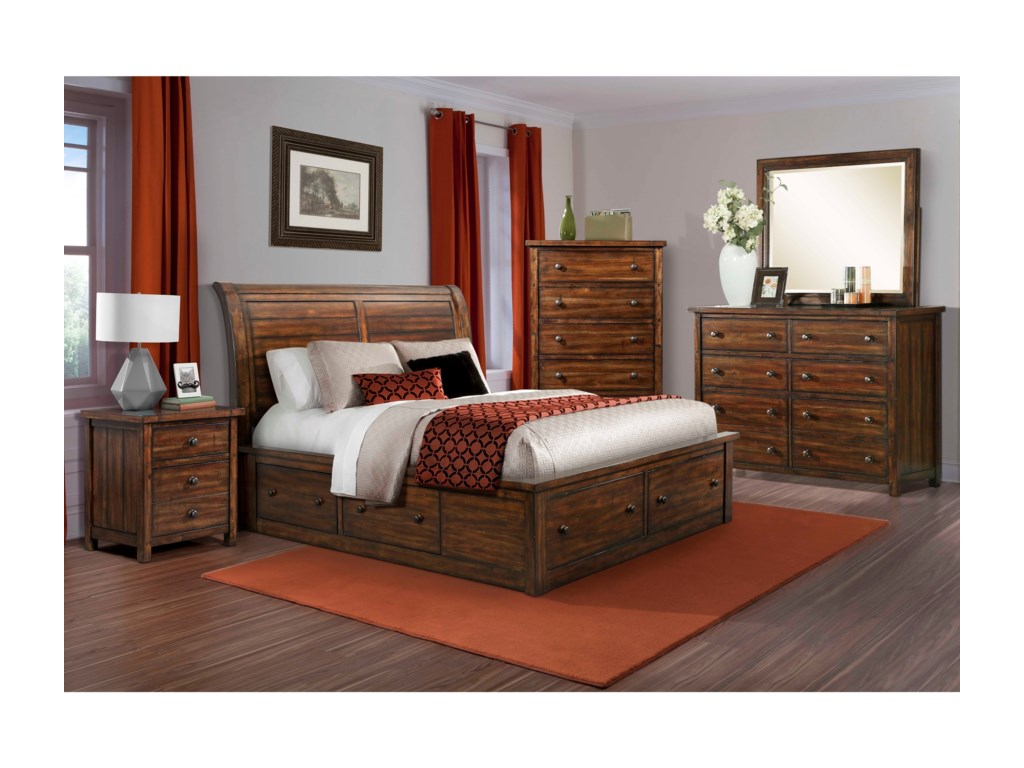 Elements International BoardwalkQueen Bedroom Group