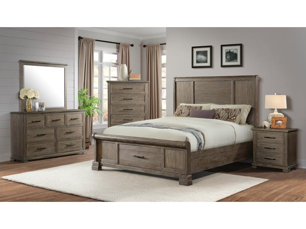 Elements International DaybreakCalifornia King Bedroom Group