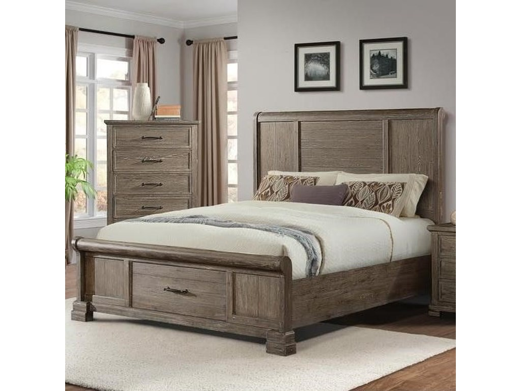 Elements International DaybreakQueen Headboard and Footboard Bed
