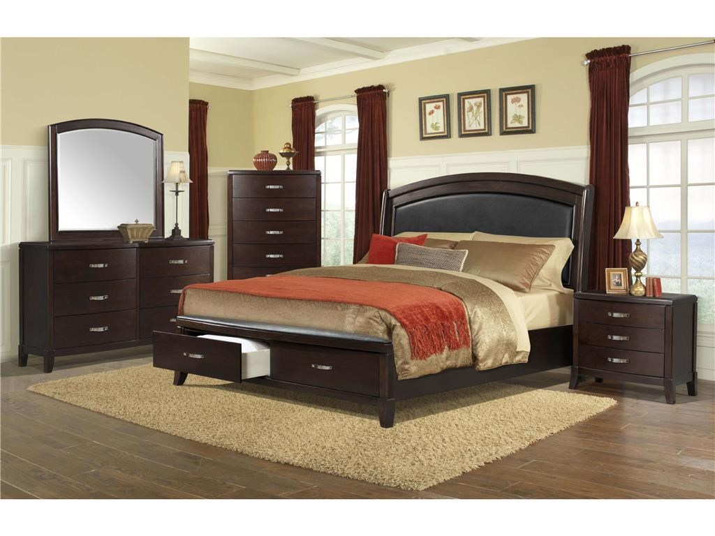 Elements International DelaneyCal King Bedroom Group
