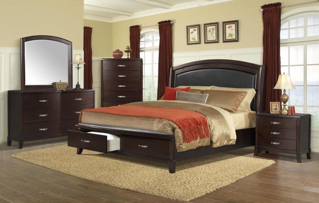 Elements International DelaneyQueen Low Profile Bed