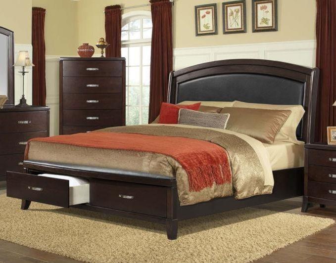 Elements International DELANEY King Storage Bed | Miskelly Furniture ...