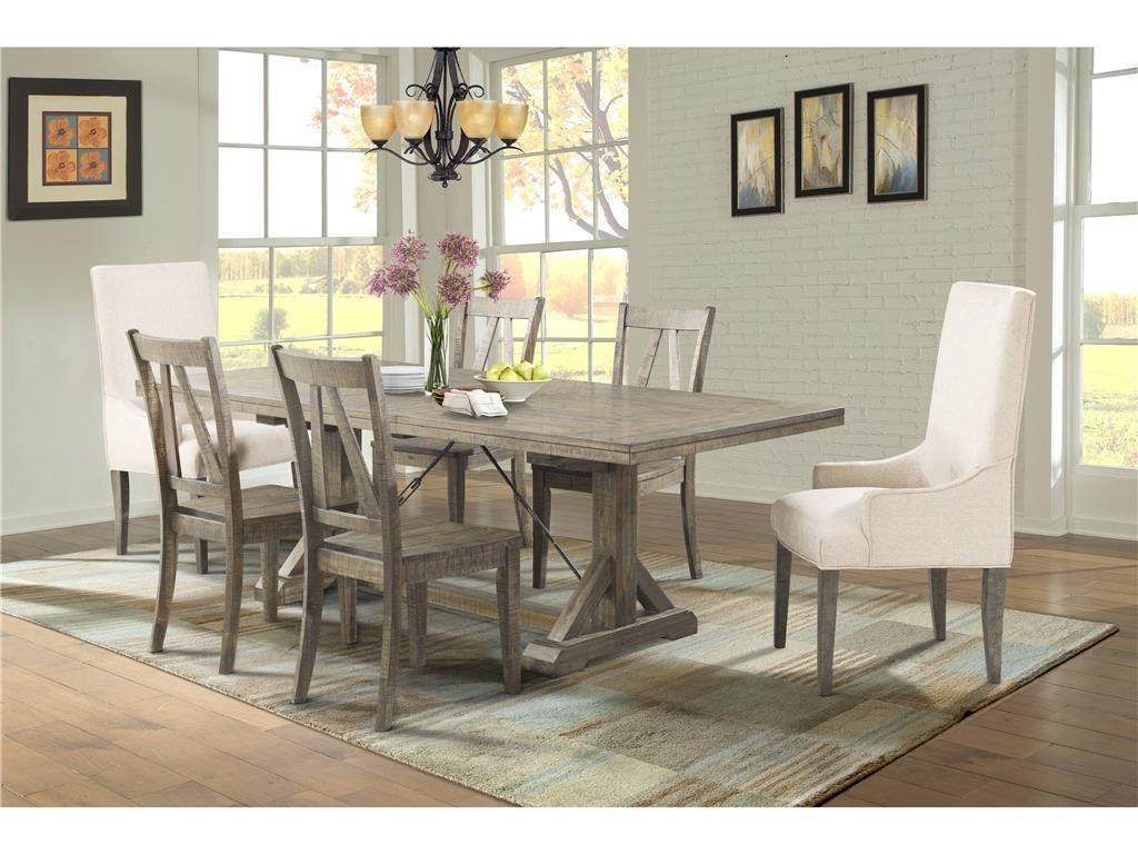 Elements International Finn Dining Table 4 Side Chairs 2 Parsons