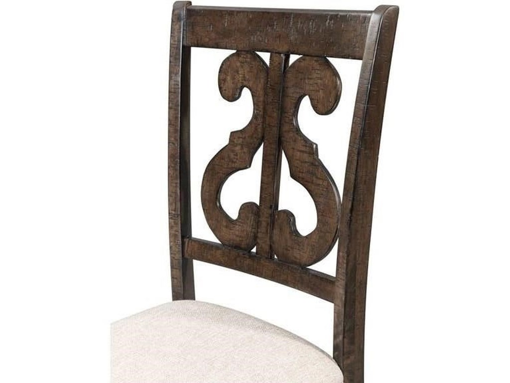 Elements International StoneRound Pedestal Table & 4 Chair Set