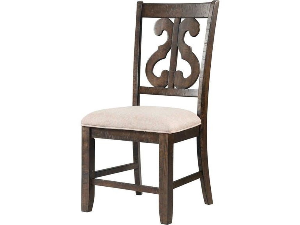 Elements International StoneRound Pedestal Table & 6 Chair Set