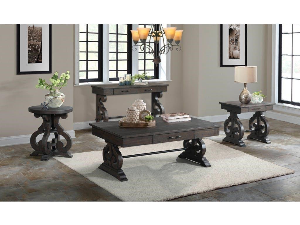 Elements International StoneRound Side Table