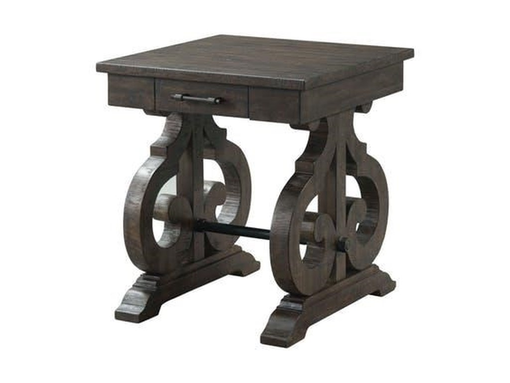 Elements International StoneSquare End Table