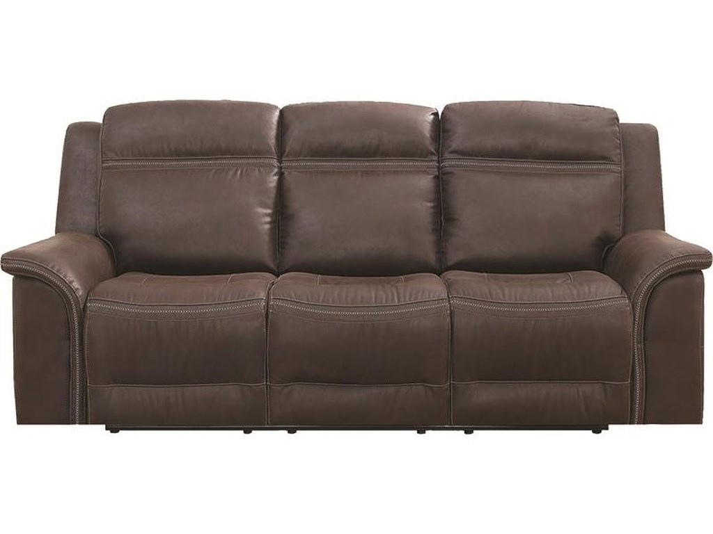 Elements International Emerson Upholstery Power Dual Reclining Sofa