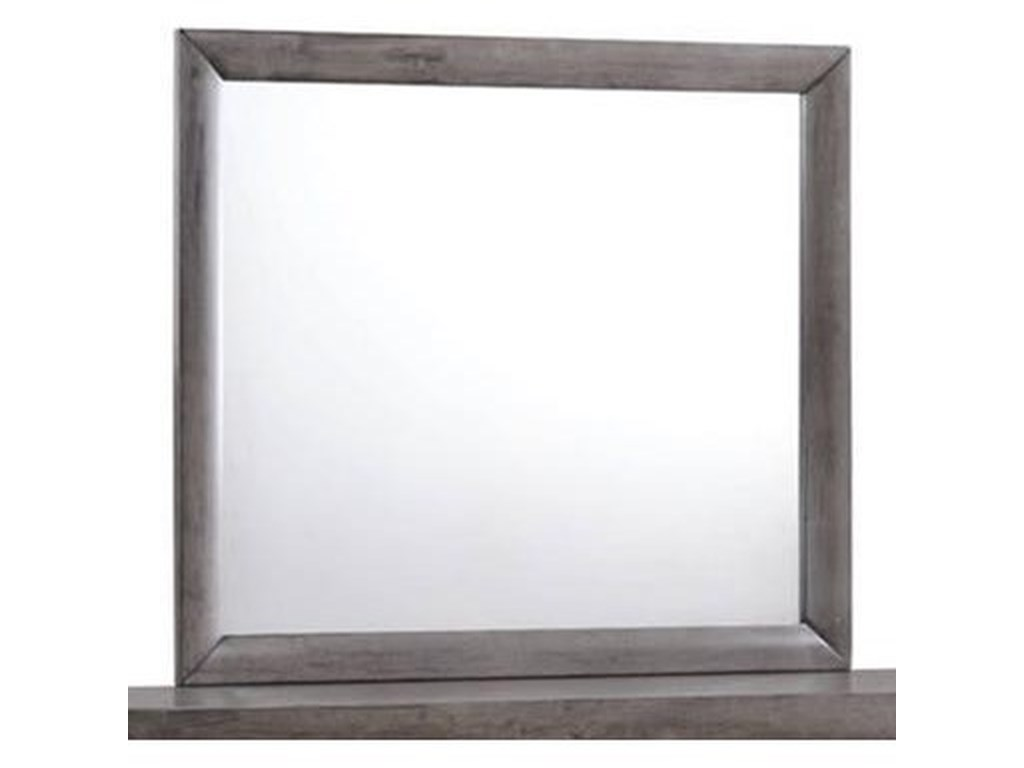 Elements International EmilyMirror with Wood Frame