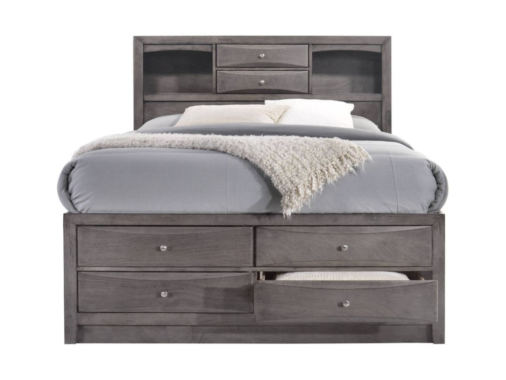 Elements International EmilyQueen Storage Bedroom Group