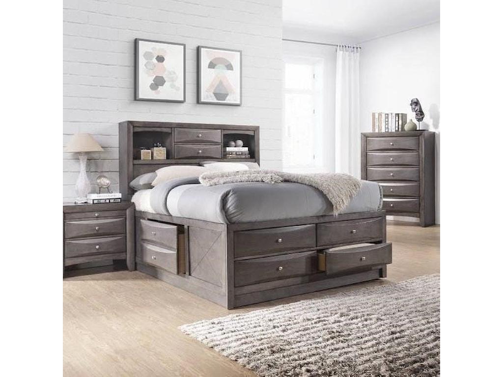 Elements International EmilyKing Bed
