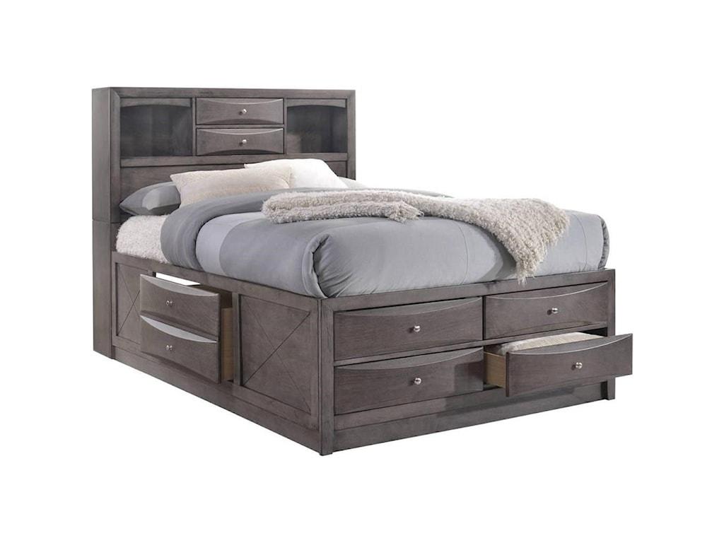 Elements International EmilyQueen Bed
