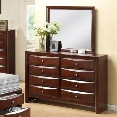 Elements International Emily 8 Drawer Dresser And Mirror | Miskelly  Furniture | Dresser U0026 Mirror Sets