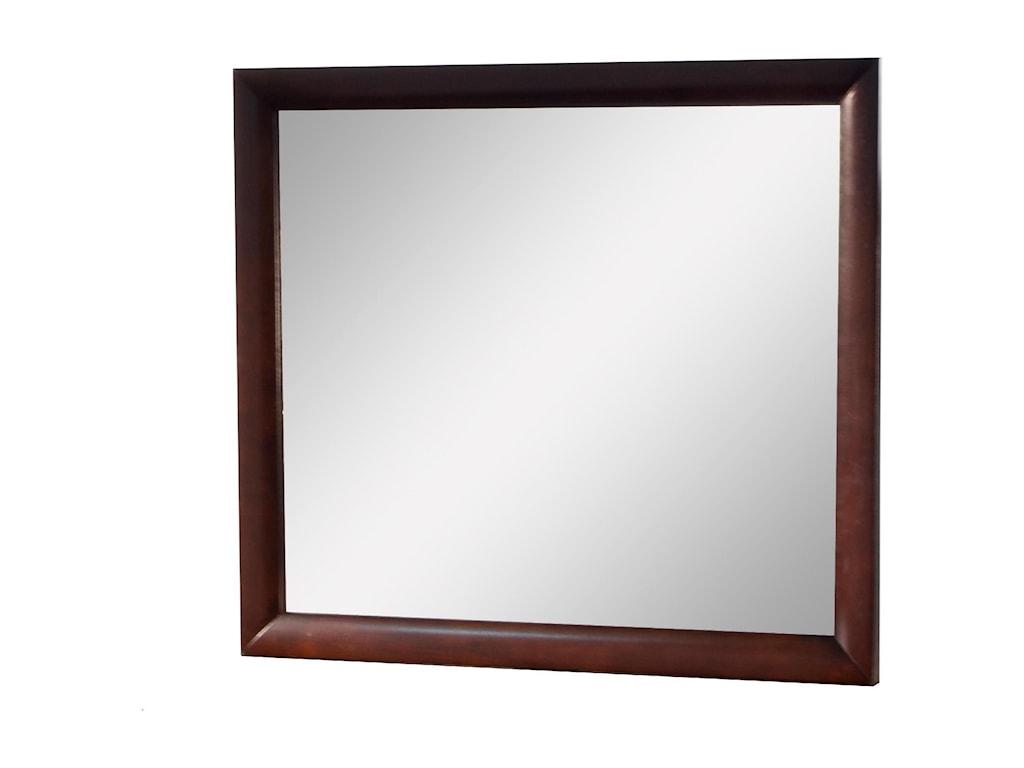 Elements International EmilyMirror with Wood Frame