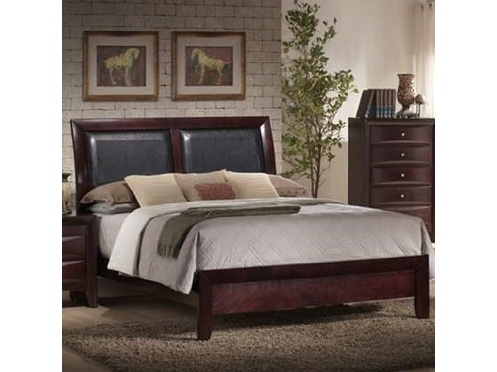 Elements International EmilyQueen Upholstered Bed