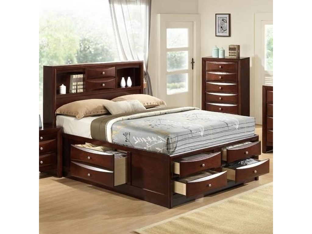 Elements International EmilyKing Storage Bed