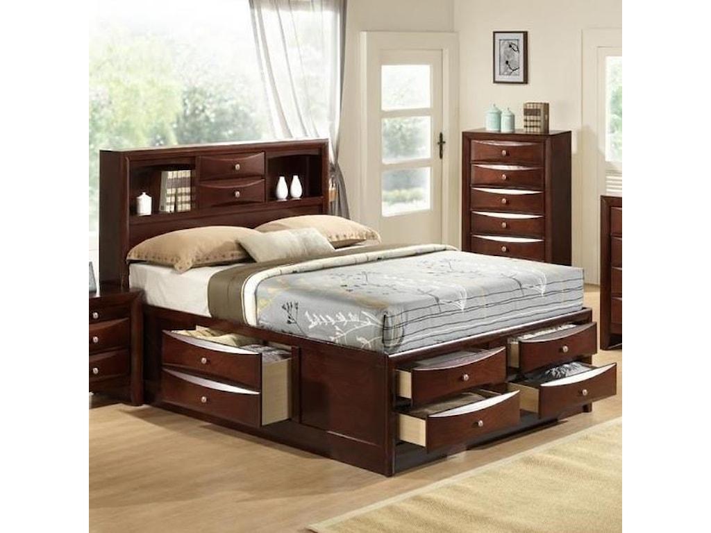 best website 7e194 14e3e Elements International Emily EM300QB Transitional Queen Bed ...