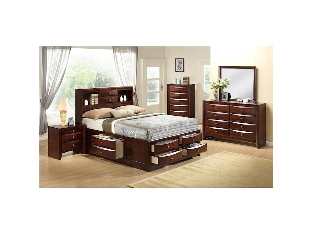 Elements International EmilyQueen Storage Bed