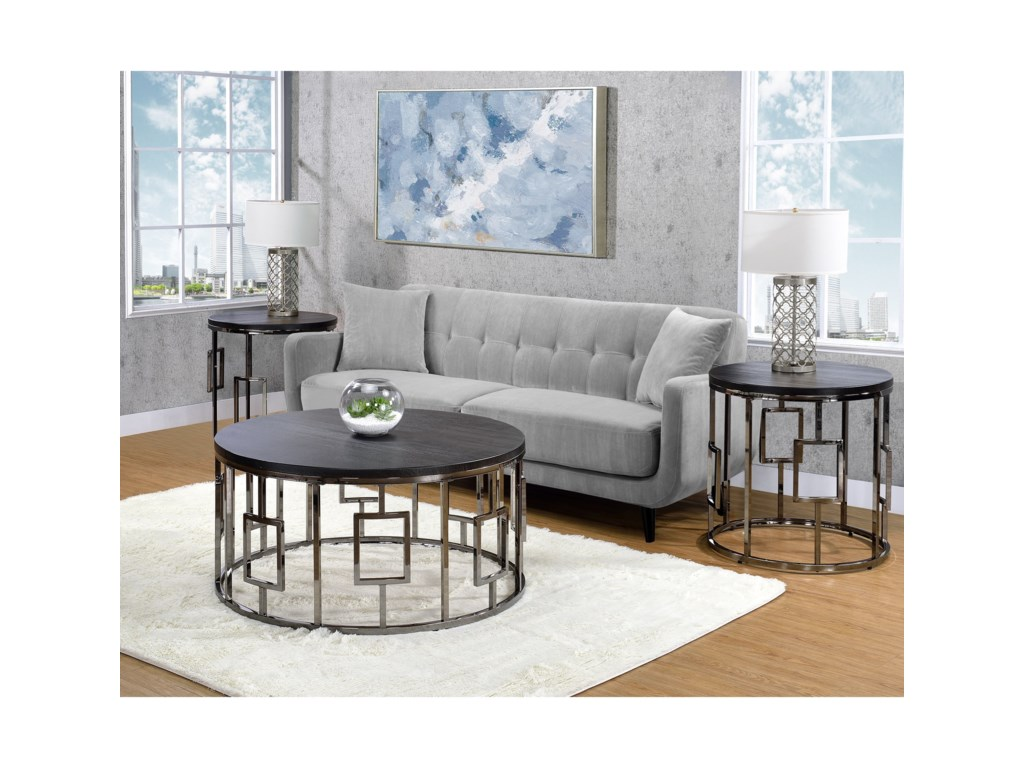Elements International EsterRound End Table