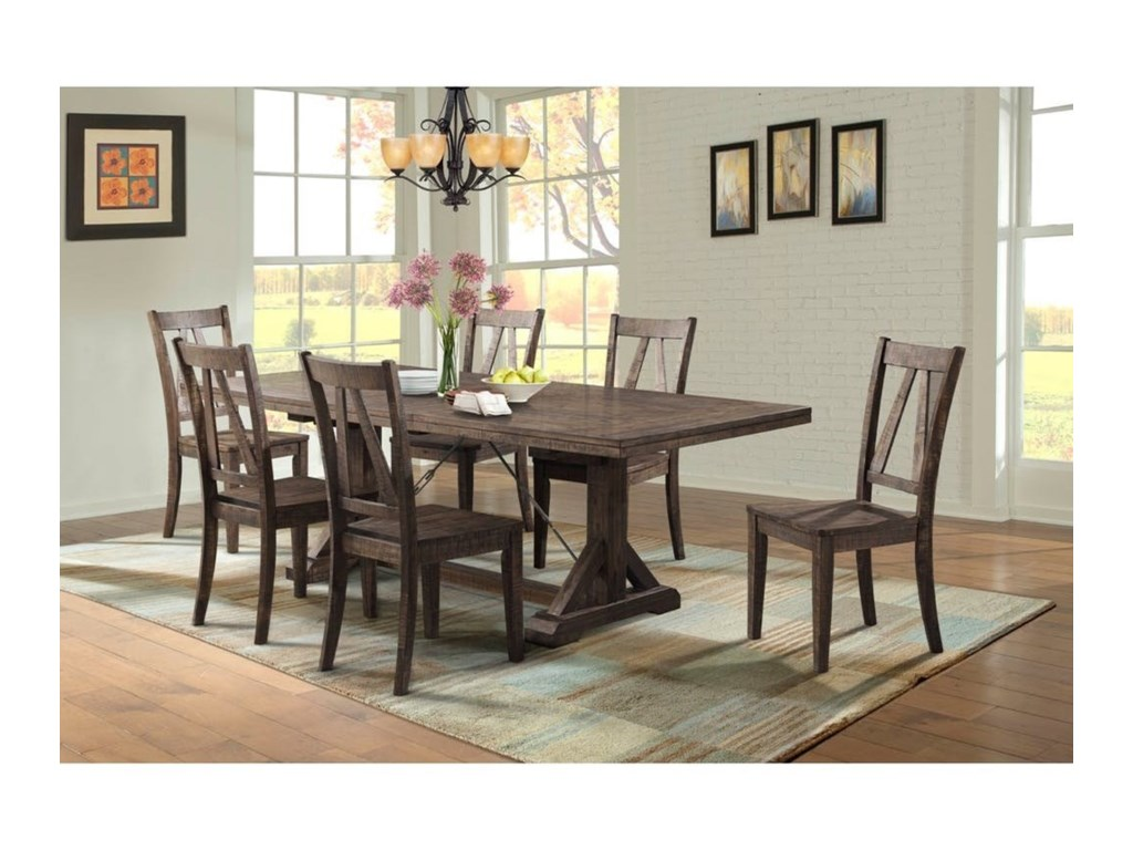 Elements International Finn Rustic Table and Chair Set | Miskelly ...