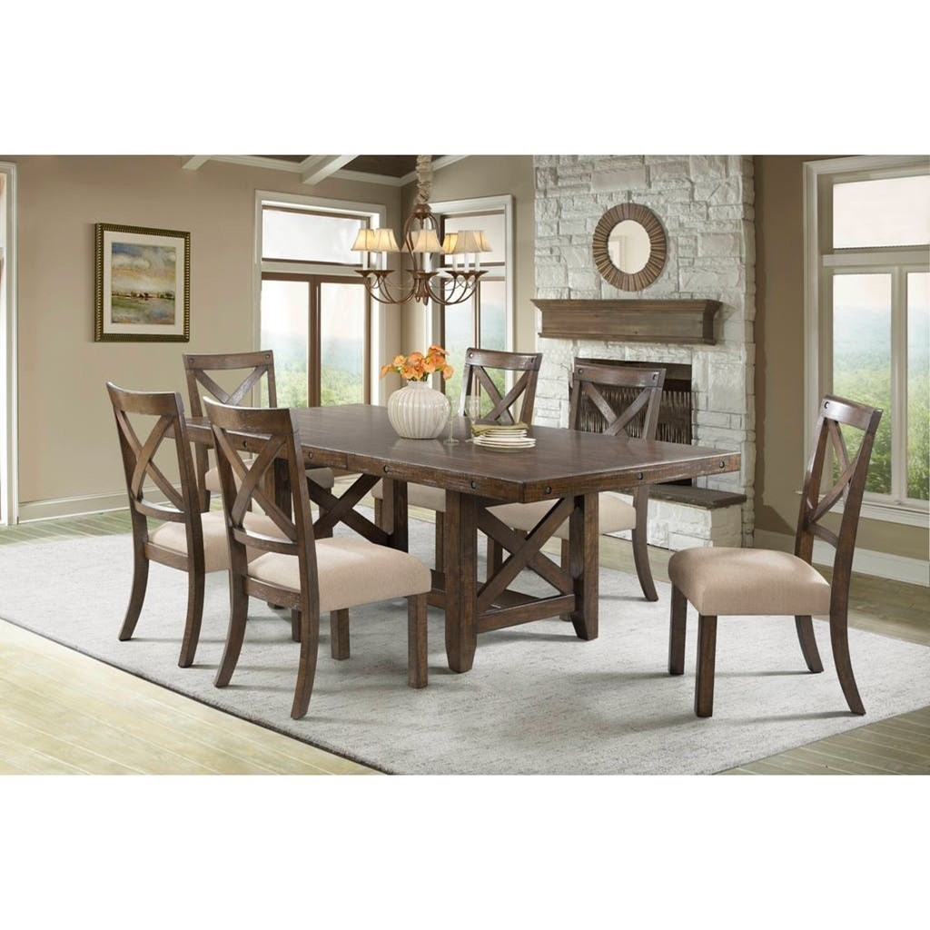 Elements International FranklinSeven Piece Dining Set ...