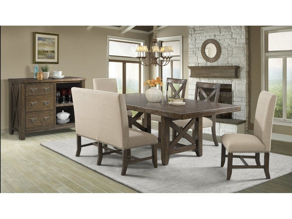 Franklin Table Set with Dining Bench