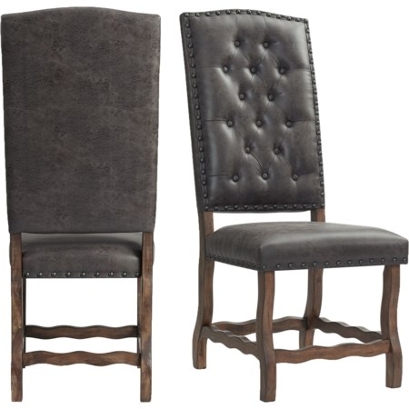 Tufted Tall Back Side Chair
