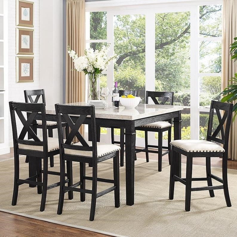 elements greystone counter height dining set with xback stools household furniture pub table and stool sets