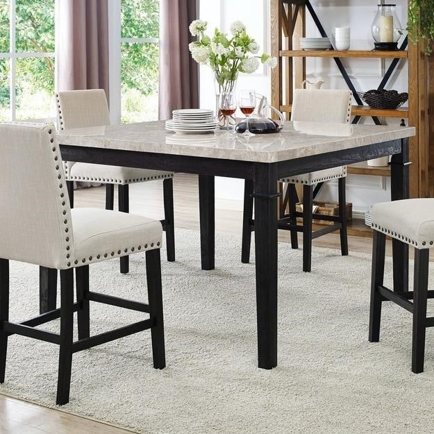 Elements International GreystoneCounter Height Table ...