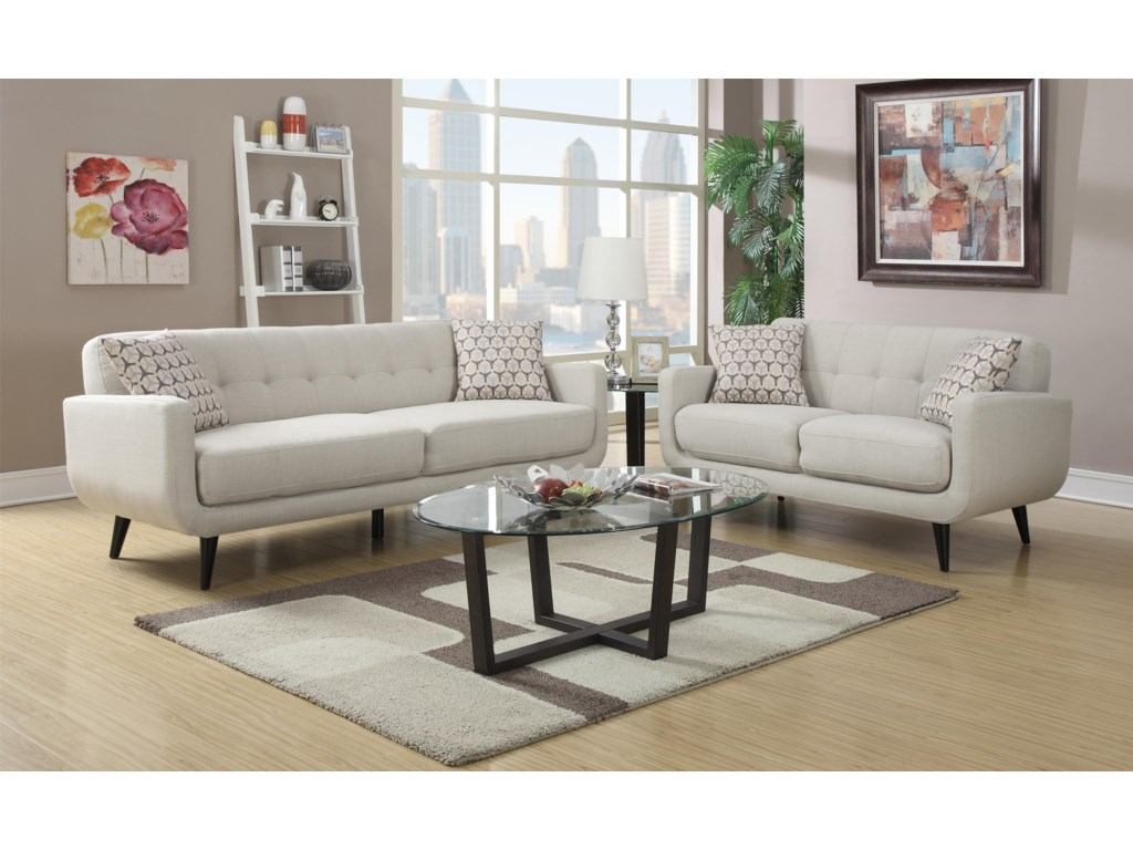 Elements International HadleyLoveseat with 2 Pillows