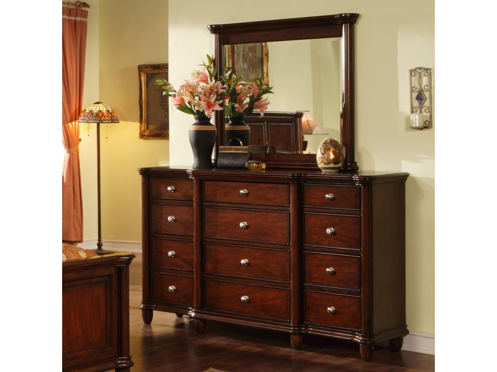 Elements International HamiltonDresser & Mirror