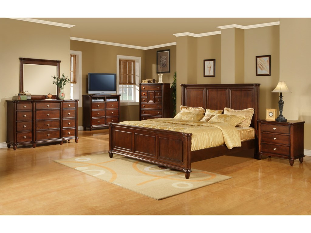 Shown with Dresser, Mirror, TV Chest, Chest, and Nightstand