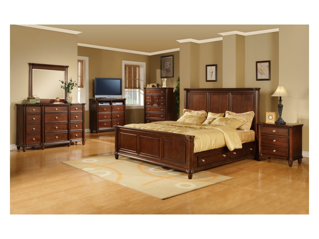 Hamilton Queen 6 Piece Bedroom Set