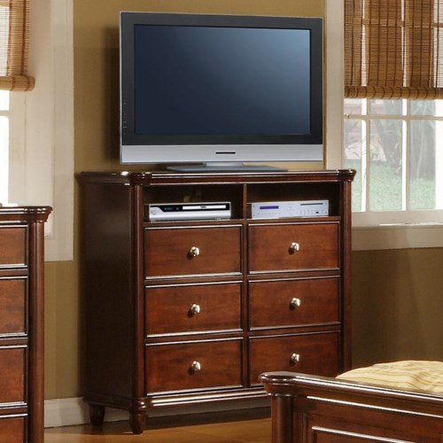 elements international hamilton bedroom tv stand standard furniture chest media chest