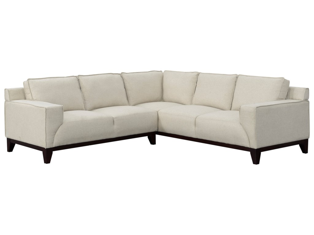 Elements International Hampton LinenSectional Sofa