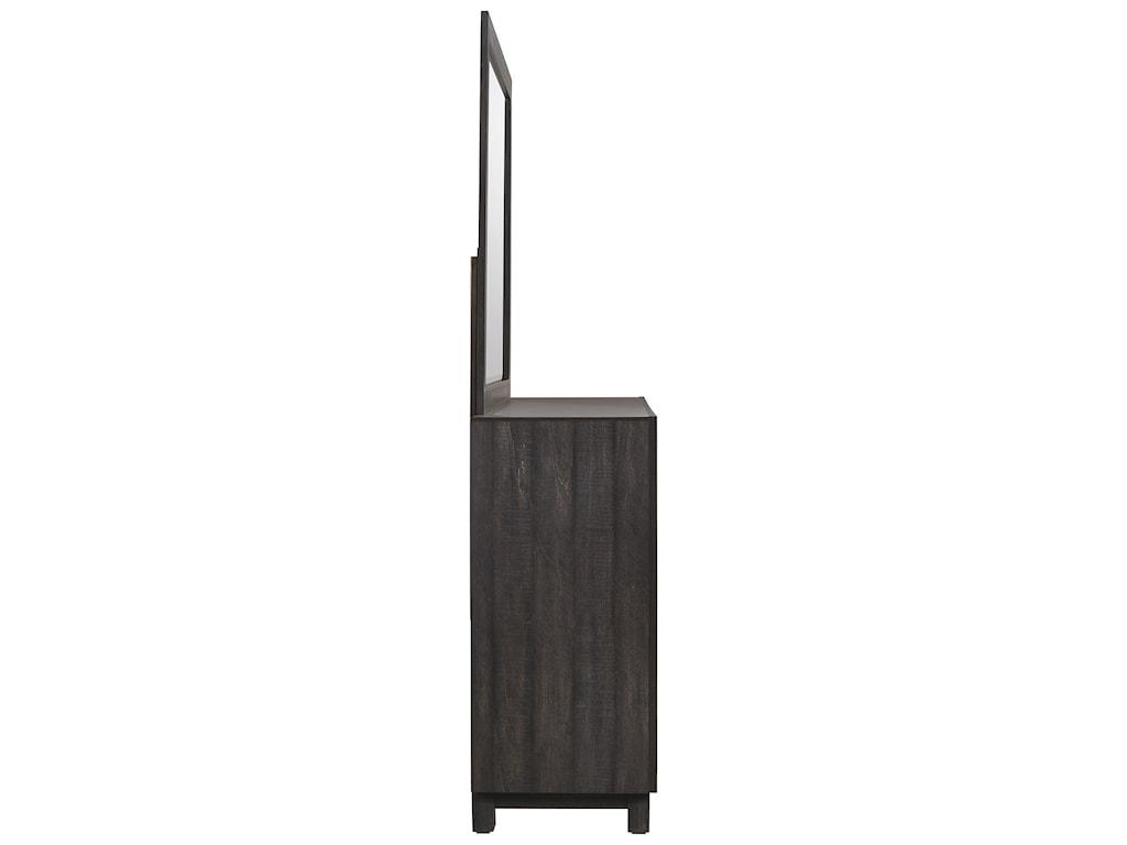 Elements International Harlington6-Drawer Dresser w/ Mirror Set
