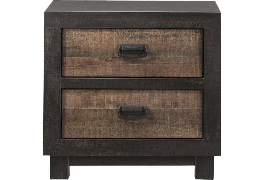 Elements International Harlington Two Tone 2 Drawer Nightstand Lindy S Furniture Company Nightstands