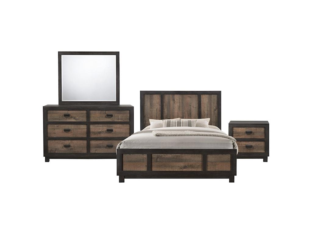 Elements International HarlingtonQueen Bedroom Group
